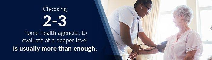 evaluate home health agencies